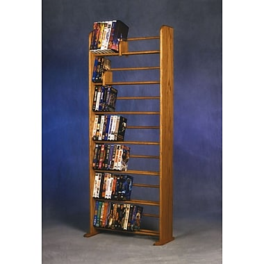 Wood Shed 700 Series 280 DVD Dowel Multimedia Storage Rack; Natural