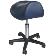 Sivan Pneumatic Hydraulic Adjustable Rolling Saddle Massage Stool; Black