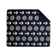 Denali  Anchors and Wheels Double-Sided Throw; 50'' H x 60'' W x 0.25'' D