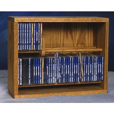 Wood Shed 200 Series 80 CD Multimedia Storage Rack; Clear