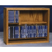 Wood Shed 200 Series 80 CD Multimedia Storage Rack; Clear