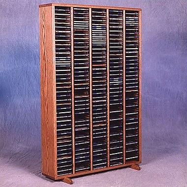 Wood Shed 400 Series 400 CD Multimedia Storage Rack; Clear