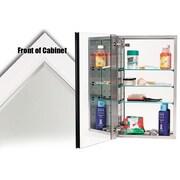 Alno 15'' x 25'' Recessed Contemporary Beveled Edge Medicine Cabinet; White