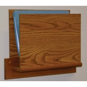 Wooden Mallet Open End Single Chart Holder - HIPPAA Compliant; Medium Oak
