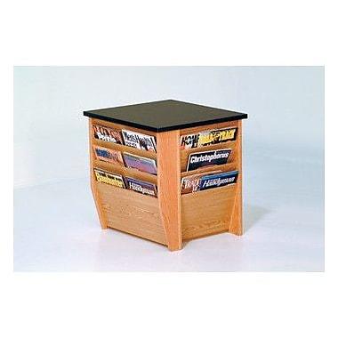 Wooden Mallet Dakota Wave End Table w/ Magazine Pockets; Light Oak