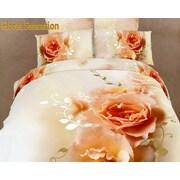 Dolce Mela Dolce Mela Floral Sensation 6 Piece Duvet Cover Set; Queen