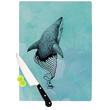 KESS InHouse Shark Record III Cutting Board; 11.5'' H x 15.75'' W x 0.15'' D