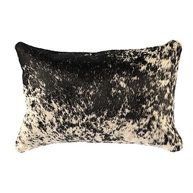 Wooded River Leather Lumbar Pillow; Suede