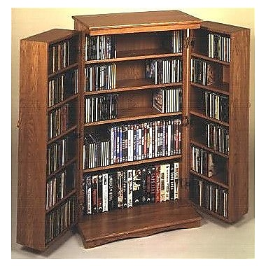 Leslie Dame 612 Series Multimedia Cabinet; Dark Oak