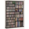 Leslie Dame Deluxe Multimedia Storage Rack; Black