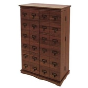 Leslie Dame Library Style Multimedia Cabinet; Walnut