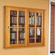 Leslie Dame Glass Door Multimedia Wall Mounted Cabinet; Oak