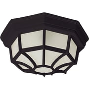 Maxim Lighting Crown Hill 2-Light Outdoor Ceiling Mount; Black