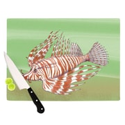 KESS InHouse Fish Manchu Cutting Board; 11.5'' H x 8.25'' W x 0.25'' D