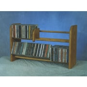 Wood Shed 200 Series 110 CD Multimedia Tabletop Storage Rack; Natural