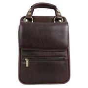 Dr. Koffer Fine Leather Accessories Lionel Flapover Document Shoulder Bag; Venetian Brown