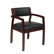 Office Star Napa Upholstered Back Eco Leather Guest Chair; Mahogany