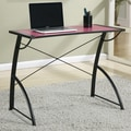 OSP Designs Trace Reversible Desk; Pink / Black