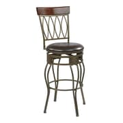 OSP Designs Cosmo 30'' Swivel Bar Stool with Cushion