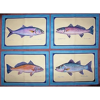 Betsy Drake Interiors Assorted Fish Placemat (Set of 4)