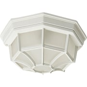 Maxim Lighting Crown Hill 2-Light Outdoor Ceiling Mount; White