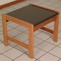 Wooden Mallet Dakota Wave End Table; Medium Oak
