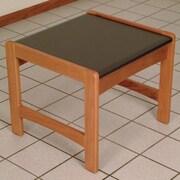Wooden Mallet Dakota Wave End Table; Medium Oak
