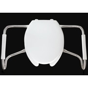 Bemis Medic Aid Safety Side Arm Commercial Open Front Solid Plastic Elongated Toilet Seat