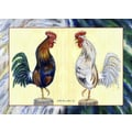 Betsy Drake Interiors Blue Rooster Placemat (Set of 4)