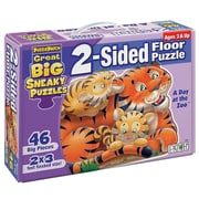 Patch Products 2 - Sided Sneaky Floor Puzzle - A Day at the Zoo