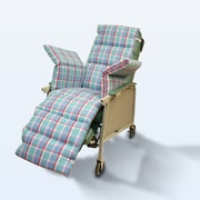 NYOrtho Geri-Chair Comfort Seat Cushion; Plaid