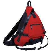 J World Hickory Big Zipper Sling Backpack; Red / Black