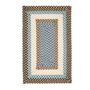 Colonial Mills Montego Border Bright Brown Kids Rug; Square 12'