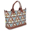 Amy Butler Marni Cotton Gym Duffel; Passion Lily Turquoise