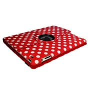 Bargain Tablet Parts Ipad 2 and Ipad 3 Polka Dot Rotating Case; Red