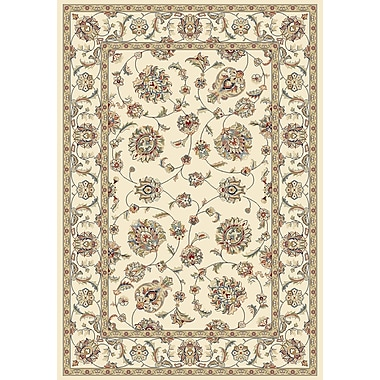Dynamic Rugs Ancient Garden Ivory/Ivory Area Rug; Runner 2'2'' x 7'7''
