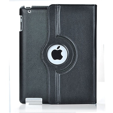 Bargain Tablet Parts iPad Air Synthetic Leather Rotating Case; Black