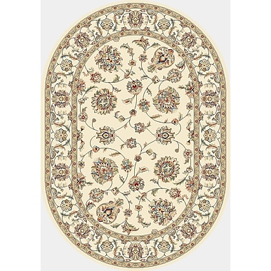 Dynamic Rugs Ancient Garden Ivory/Ivory Area Rug; Oval 2'7'' x 4'7''