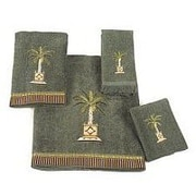 Avanti Linens Banana Palm 4 Piece Towel Set; Green