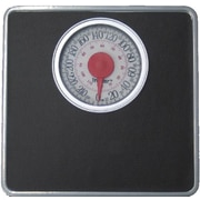 Trimmer Silver Frame Mechanical Bathroom Scale with Round Display; Black