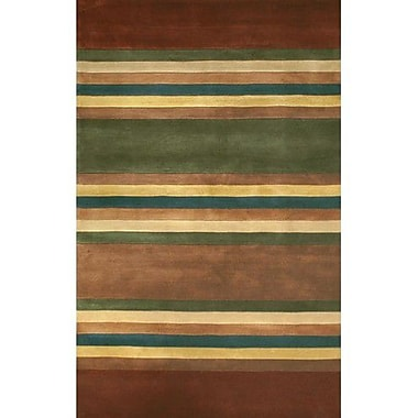 American Home Rug Co. Casual Contemporary Earth Tones Modern Stripes Area Rug; 3'6'' x 5'6''