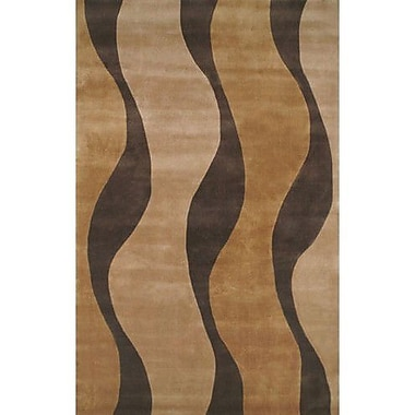 American Home Rug Co. Casual Contemporary Gold / Brown Windsong Area Rug; 8' x 11'