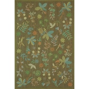 Martha Stewart Rugs Grove Twig Green Floral Area Rug; 5'6'' x 8'6''