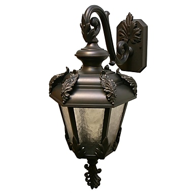 Melissa Parisian Elegance 1-Light Outdoor Wall Lantern; White