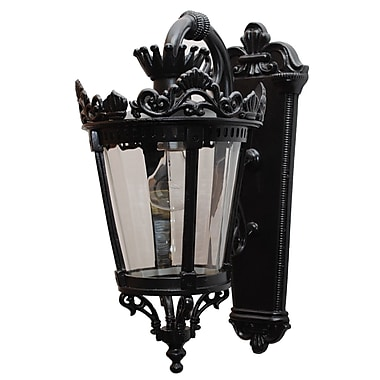 Melissa Tuscany 1 Light Outdoor Wall Lantern; Old Bronze