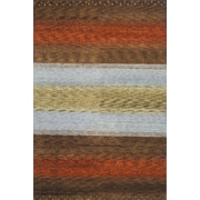 Momeni Desert Gabbeh Hand-Knotted Brown/Orange/Gold Area Rug; Round 8'