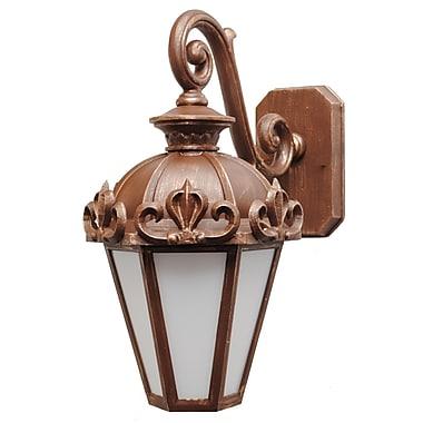 Melissa Parisian Elegance 1 Light Outdoor Wall Lantern; Old Iron