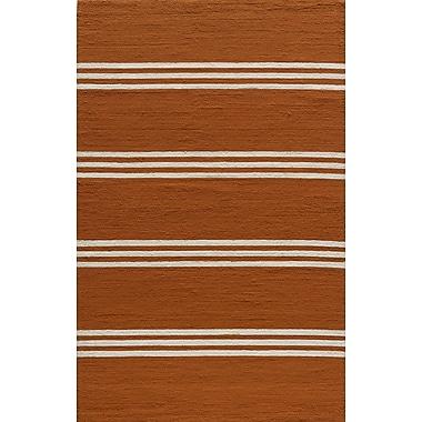Momeni Veranda Handmade Tangerine Area Rug; 5' x 8'