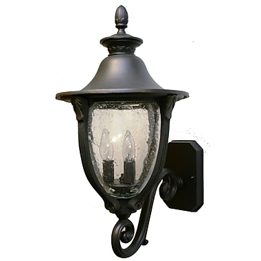Melissa Tuscany 3 Light Outdoor Sconce; Black