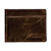 Mancini Outback Men's Classic 12 Card Billfold; Brown